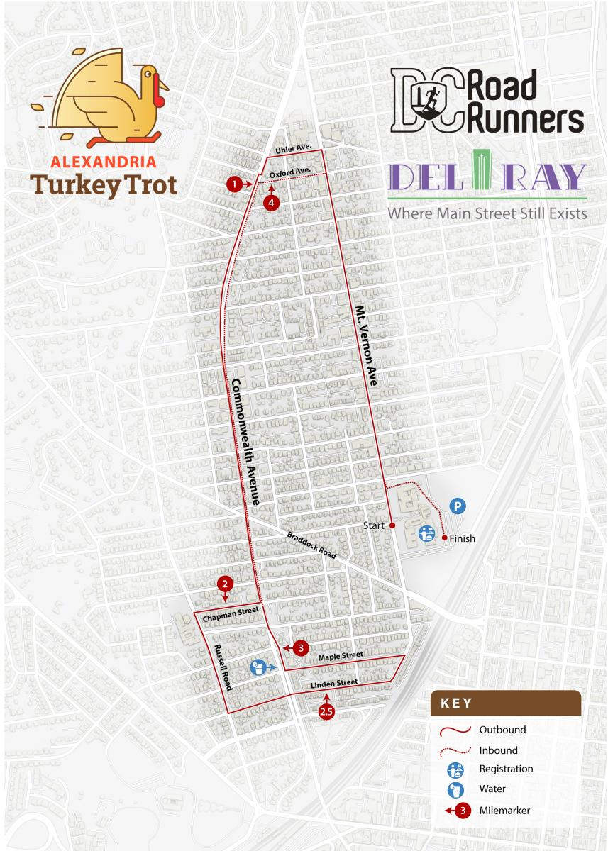 Alexandria Turkey Trot Course